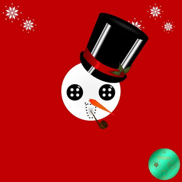 Didies [Noël] Le bonhomme de neige (Snowman) [2016] (Création et conception graphique de Didier Desmet) [Artiste Infirme Moteur Cérébral] [Infirmité Motrice Cérébrale] [IMC] [Paralysie Cérébrale] [Cerebral Palsy] [Handicap] [Kawaii]