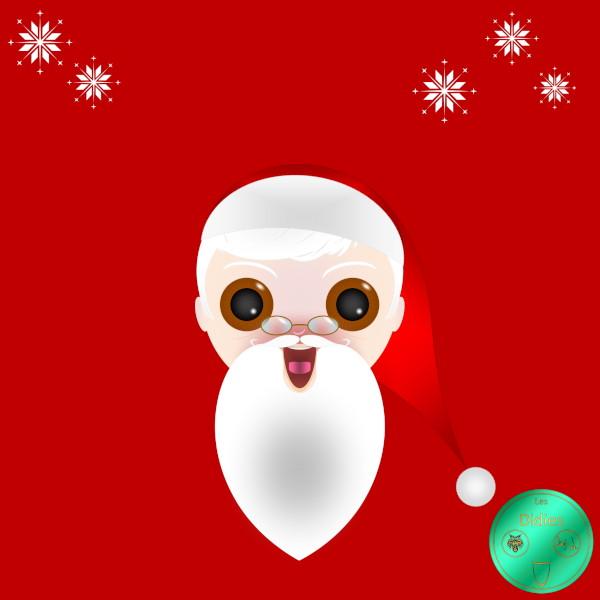 Didies [Noël] Papa Noël ou Père Noël (Santa Claus) [2016-2018] (Création et conception graphique de Didier Desmet) [Artiste Infirme Moteur Cérébral] [Infirmité Motrice Cérébrale] [IMC] [Paralysie Cérébrale] [Cerebral Palsy] [Handicap] [Kawaii]