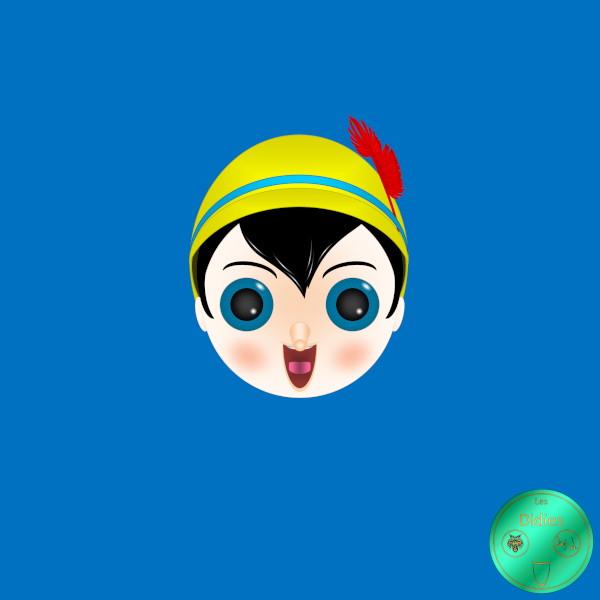 Didies [Pinocchio, Walt Disney, 1940] Pinocchio [2018] (Création et conception graphique de Didier Desmet) [Artiste Infirme Moteur Cérébral] [Infirmité Motrice Cérébrale] [IMC] [Paralysie Cérébrale] [Cerebral Palsy] [Handicap] [Kawaii]