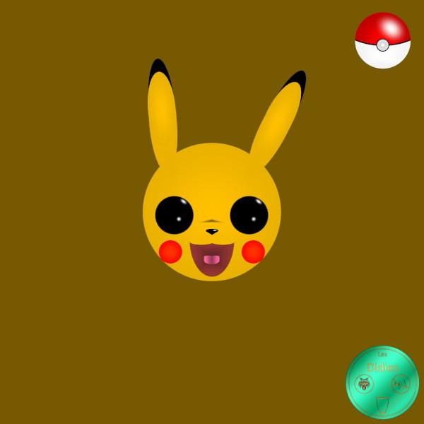 Didies [Pokémon, la série (Pocket Monsters (Poketto Monsut)), 1997] Pikachu [2020] (Création et conception graphique de Didier Desmet) [Artiste Infirme Moteur Cérébral] [Infirmité Motrice Cérébrale] [IMC] [Paralysie Cérébrale] [Cerebral Palsy] [Handicap] [Kawaii]