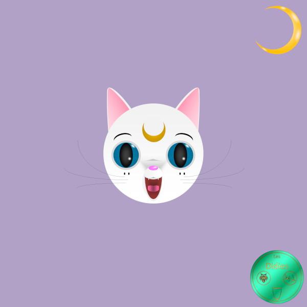Didies [Sailor Moon (Bishjo Senshi Sr Mn), 1982] Artémis [2018] (Création et conception graphique de Didier Desmet) [Artiste Infirme Moteur Cérébral] [Infirmité Motrice Cérébrale] [IMC] [Paralysie Cérébrale] [Cerebral Palsy] [Handicap] [Kawaii]