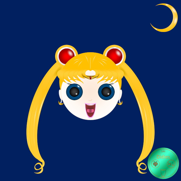 Didies [Sailor Moon (Bishjo Senshi Sr Mn), 1982] Bunny (Usagi Tsukino) alias Sailor Moon [2014-2016-2018] (Création et conception graphique de Didier Desmet) [Artiste Infirme Moteur Cérébral] [Infirmité Motrice Cérébrale] [IMC] [Paralysie Cérébrale] [Cerebral Palsy] [Handicap] [Kawaii]