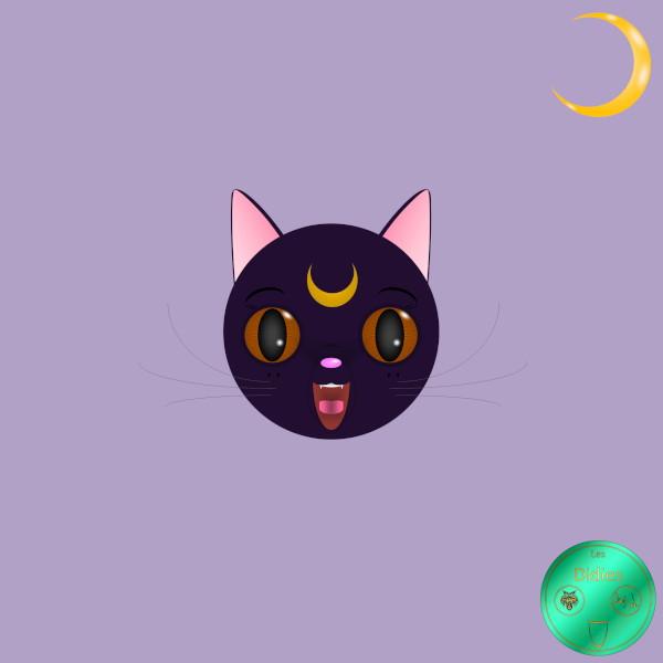 Didies [Sailor Moon (Bishjo Senshi Sr Mn), 1982] Luna [2016-2018] (Création et conception graphique de Didier Desmet) [Artiste Infirme Moteur Cérébral] [Infirmité Motrice Cérébrale] [IMC] [Paralysie Cérébrale] [Cerebral Palsy] [Handicap] [Kawaii]