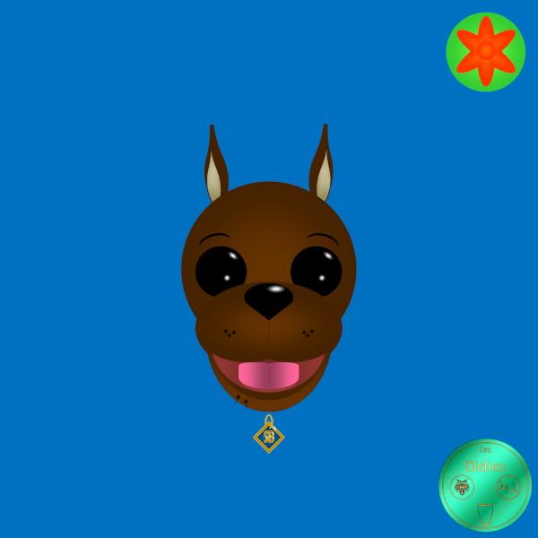 Didies [Scooby-Doo, où es-tu (Scooby-Doo, Where Are You!), 1969] Scooby-Doo [2019] (Création et conception graphique de Didier Desmet) [Artiste Infirme Moteur Cérébral] [Infirmité Motrice Cérébrale] [IMC] [Paralysie Cérébrale] [Cerebral Palsy] [Handicap] [Kawaii]