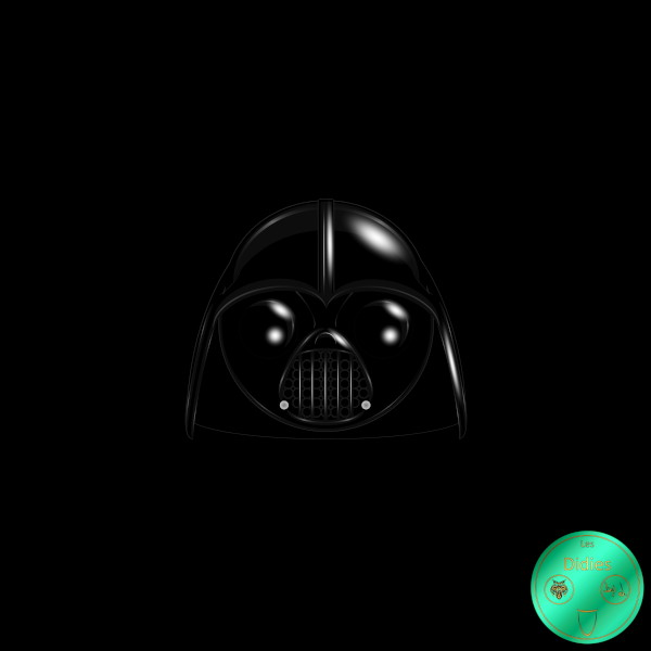 Didies [Star Wars (ou La Guerre des étoiles), depuis 1977] Dark Vador, Anakin Skywalker (Darth Vader) [2016] (Création et conception graphique de Didier Desmet) [Artiste Infirme Moteur Cérébral] [Infirmité Motrice Cérébrale] [IMC] [Paralysie Cérébrale] [Cerebral Palsy] [Handicap] [Kawaii]