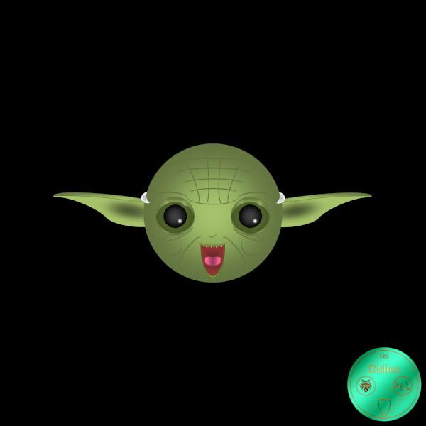 Didies [Star Wars (ou La Guerre des étoiles), depuis 1977] Maître Yoda (Jedi master) [2016-2018] (Création et conception graphique de Didier Desmet) [Artiste Infirme Moteur Cérébral] [Infirmité Motrice Cérébrale] [IMC] [Paralysie Cérébrale] [Cerebral Palsy] [Handicap] [Kawaii]