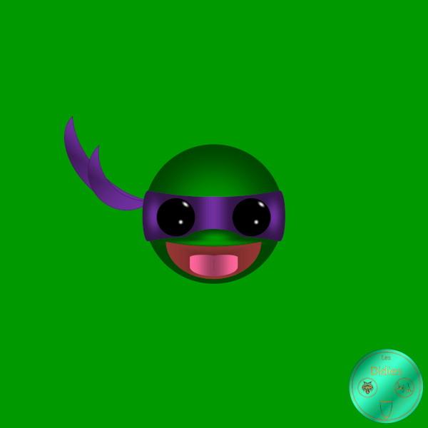 Didies [Tortues Ninjas - Les Chevaliers d`écaille (Teenage Mutant Ninja Turtles), 1987] Donatello [2018] (Création et conception graphique de Didier Desmet) [Artiste Infirme Moteur Cérébral] [Infirmité Motrice Cérébrale] [IMC] [Paralysie Cérébrale] [Cerebral Palsy] [Handicap] [Kawaii]