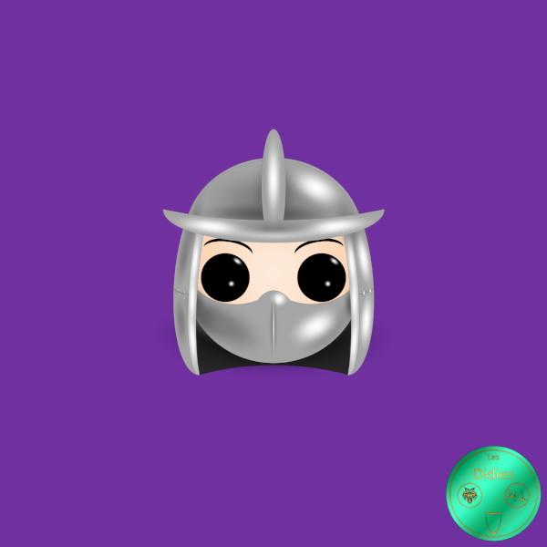 Didies [Tortues Ninjas - Les Chevaliers d'écaille (Teenage Mutant Ninja Turtles), 1987] Shredder [2020] (Création et conception graphique de Didier Desmet) [Artiste Infirme Moteur Cérébral] [Infirmité Motrice Cérébrale] [IMC] [Paralysie Cérébrale] [Cerebral Palsy] [Handicap] [Kawaii]
