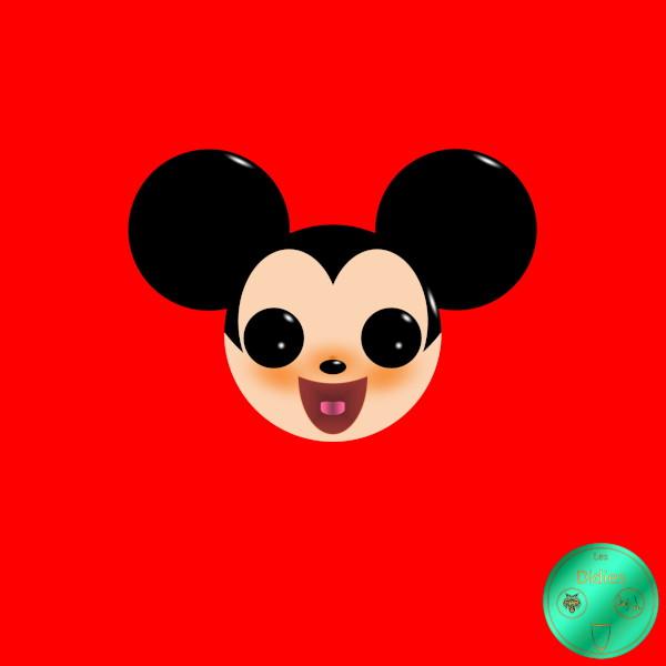 Didies [Walt Disney, 1928] Mickey Mouse [2018] (Création et conception graphique de Didier Desmet) [Artiste Infirme Moteur Cérébral] [Infirmité Motrice Cérébrale] [IMC] [Paralysie Cérébrale] [Cerebral Palsy] [Handicap] [Kawaii]