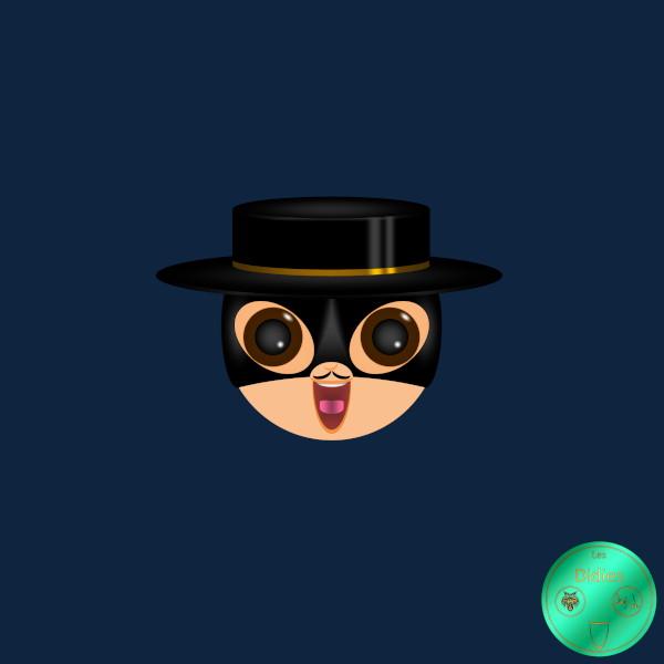 Didies [Zorro, Walt Disney, 1957] Don Diego de la Vega (interprété par Armando Joseph Catalano) alias Zorro [2018] (Création et conception graphique de Didier Desmet) [Artiste Infirme Moteur Cérébral] [Infirmité Motrice Cérébrale] [IMC] [Paralysie Cérébrale] [Cerebral Palsy] [Handicap] [Kawaii]