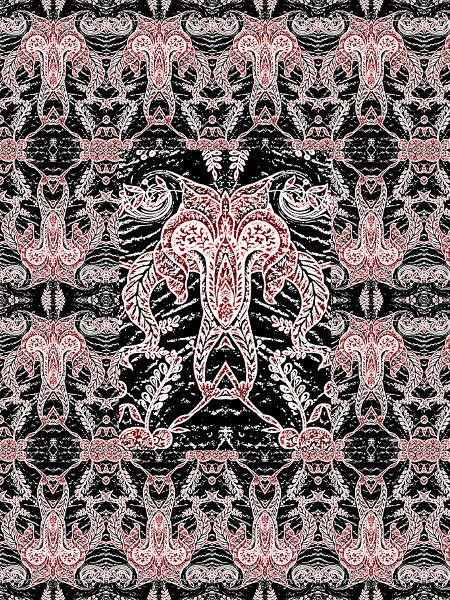 Encre et sang [2011] (Création et conception graphique de Didier Desmet) [Motif] [Pattern] [Motifs] [Patterns] [Artiste Infirme Moteur Cérébral] [Infirmité Motrice Cérébrale] [IMC] [Paralysie Cérébrale] [Cerebral Palsy] [Handicap]