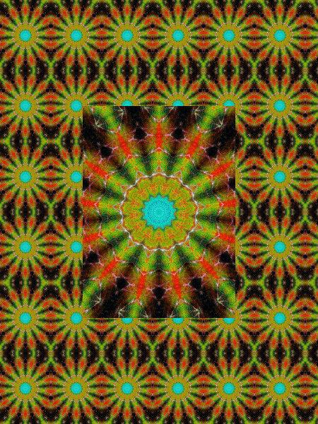 Flamme psychédélique [2012] (Création et conception graphique de Didier Desmet) [Motif] [Pattern] [Motifs] [Patterns] [Artiste Infirme Moteur Cérébral] [Infirmité Motrice Cérébrale] [IMC] [Paralysie Cérébrale] [Cerebral Palsy] [Handicap]