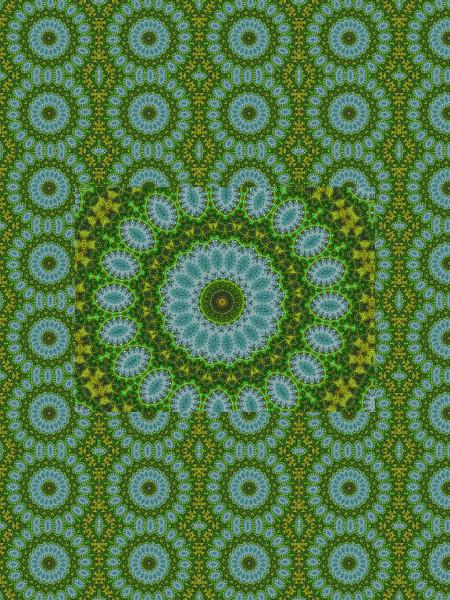 Floraison aquatique [2012] (Création et conception graphique de Didier Desmet) [Motif] [Pattern] [Motifs] [Patterns] [Artiste Infirme Moteur Cérébral] [Infirmité Motrice Cérébrale] [IMC] [Paralysie Cérébrale] [Cerebral Palsy] [Handicap]