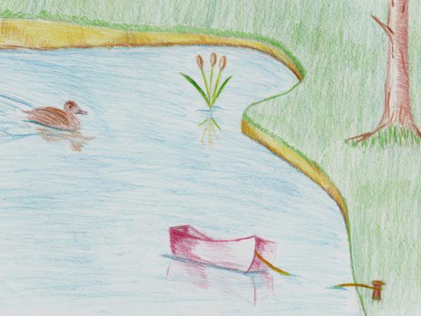 Inspiration champêtre [2016] (Dessin de Didier Desmet) [Artiste Infirme Moteur Cérébral] [Infirmité Motrice Cérébrale] [IMC] [Paralysie Cérébrale] [Cerebral Palsy] [Handicap]