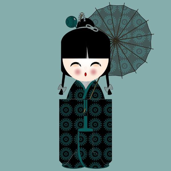 Kokeshi #24 [2012-2015] (Création et conception graphique de Didier Desmet) [Artiste Infirme Moteur Cérébral] [Infirmité Motrice Cérébrale] [IMC] [Paralysie Cérébrale] [Cerebral Palsy] [Handicap] [Kawaii]