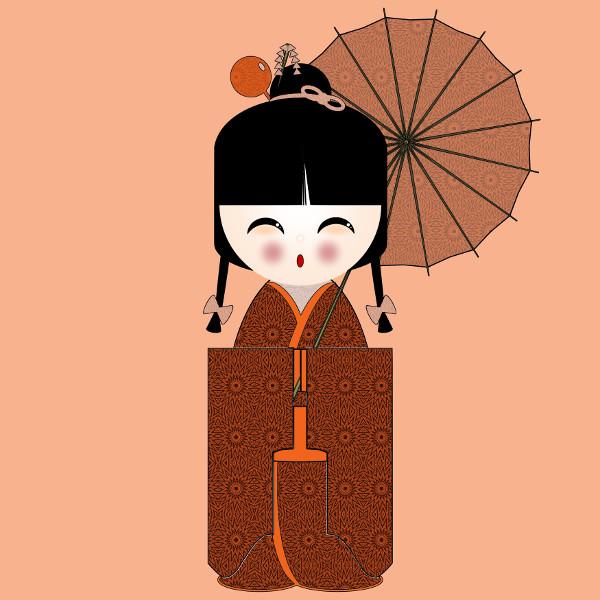 Kokeshi #25 [2012-2015] (Création et conception graphique de Didier Desmet) [Artiste Infirme Moteur Cérébral] [Infirmité Motrice Cérébrale] [IMC] [Paralysie Cérébrale] [Cerebral Palsy] [Handicap] [Kawaii]