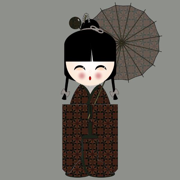 Kokeshi #30 [2012-2015] (Création et conception graphique de Didier Desmet) [Artiste Infirme Moteur Cérébral] [Infirmité Motrice Cérébrale] [IMC] [Paralysie Cérébrale] [Cerebral Palsy] [Handicap] [Kawaii]