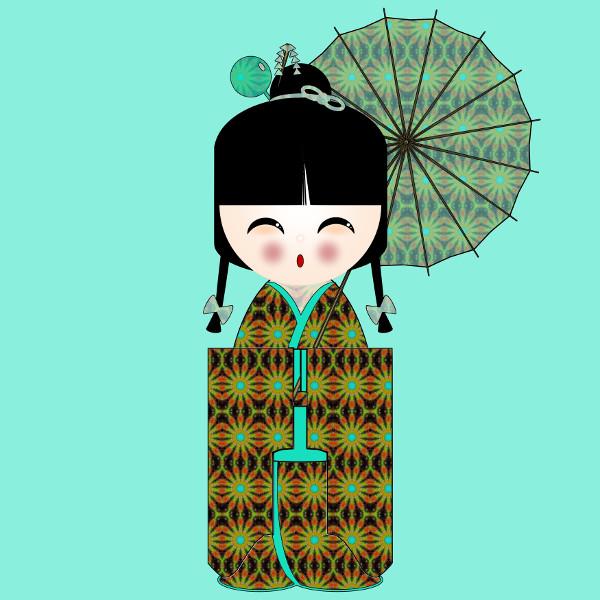 Kokeshi #32 [2012-2015] (Création et conception graphique de Didier Desmet) [Artiste Infirme Moteur Cérébral] [Infirmité Motrice Cérébrale] [IMC] [Paralysie Cérébrale] [Cerebral Palsy] [Handicap] [Kawaii]
