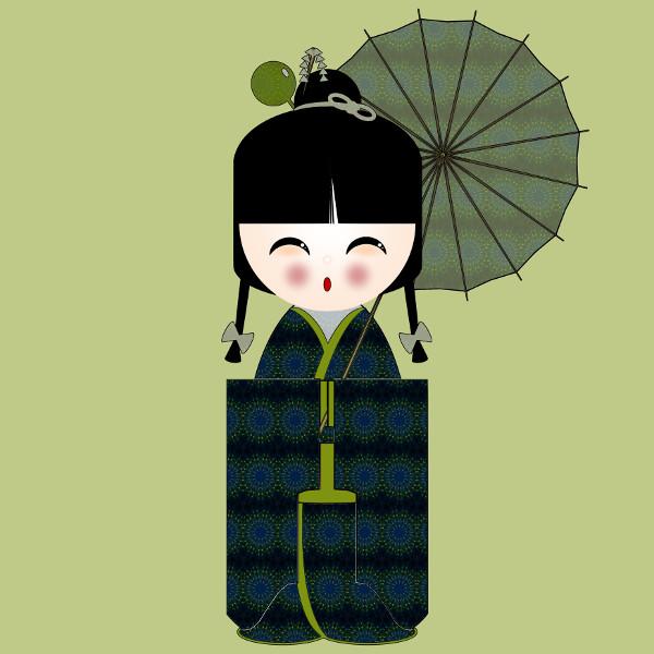 Kokeshi #35 [2012-2015] (Création et conception graphique de Didier Desmet) [Artiste Infirme Moteur Cérébral] [Infirmité Motrice Cérébrale] [IMC] [Paralysie Cérébrale] [Cerebral Palsy] [Handicap] [Kawaii]