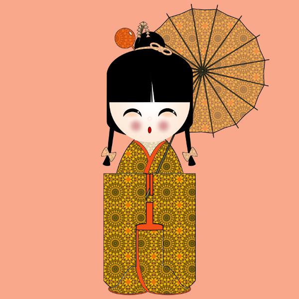 Kokeshi #39 [2012-2015] (Création et conception graphique de Didier Desmet) [Artiste Infirme Moteur Cérébral] [Infirmité Motrice Cérébrale] [IMC] [Paralysie Cérébrale] [Cerebral Palsy] [Handicap] [Kawaii]