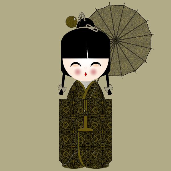 Kokeshi #40 [2012-2015] (Création et conception graphique de Didier Desmet) [Artiste Infirme Moteur Cérébral] [Infirmité Motrice Cérébrale] [IMC] [Paralysie Cérébrale] [Cerebral Palsy] [Handicap] [Kawaii]