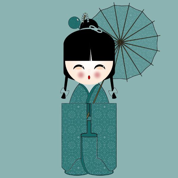 Kokeshi #5 [2012-2015] (Création et conception graphique de Didier Desmet) [Artiste Infirme Moteur Cérébral] [Infirmité Motrice Cérébrale] [IMC] [Paralysie Cérébrale] [Cerebral Palsy] [Handicap] [Kawaii]