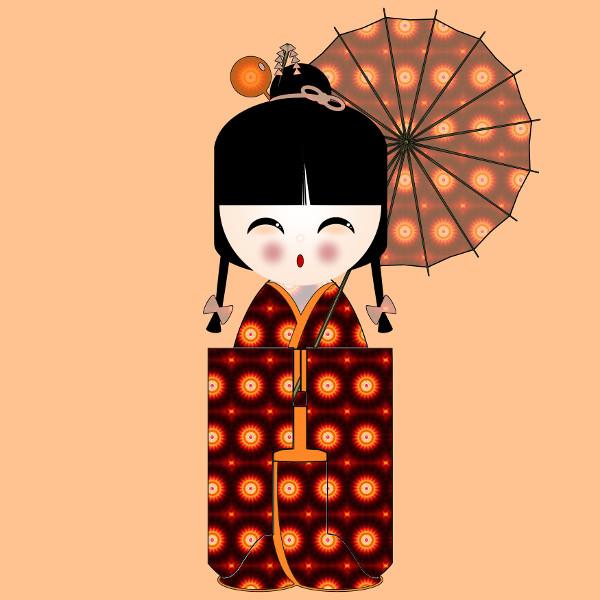 Kokeshi #7 [2012-2015] (Création et conception graphique de Didier Desmet) [Artiste Infirme Moteur Cérébral] [Infirmité Motrice Cérébrale] [IMC] [Paralysie Cérébrale] [Cerebral Palsy] [Handicap] [Kawaii]