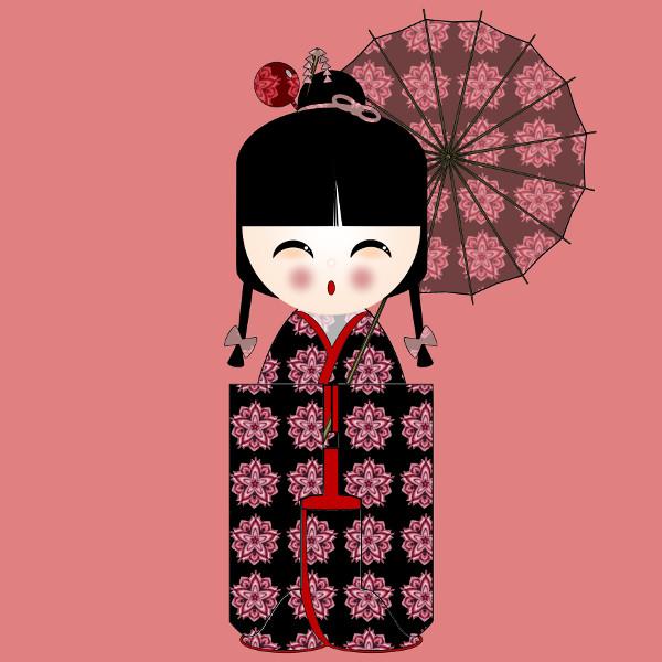 Kokeshi Flowers #1 [2012-2015] (Création et conception graphique de Didier Desmet) [Artiste Infirme Moteur Cérébral] [Infirmité Motrice Cérébrale] [IMC] [Paralysie Cérébrale] [Cerebral Palsy] [Handicap] [Kawaii]