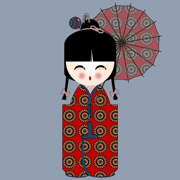 Kokeshi Flowers #10 [2012-2015] (Création et conception graphique de Didier Desmet) [Artiste Infirme Moteur Cérébral] [Infirmité Motrice Cérébrale] [IMC] [Paralysie Cérébrale] [Cerebral Palsy] [Handicap] [Kawaii]