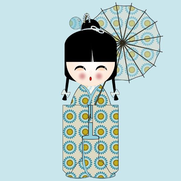 Kokeshi Flowers #11 [2012-2015] (Création et conception graphique de Didier Desmet) [Artiste Infirme Moteur Cérébral] [Infirmité Motrice Cérébrale] [IMC] [Paralysie Cérébrale] [Cerebral Palsy] [Handicap] [Kawaii]
