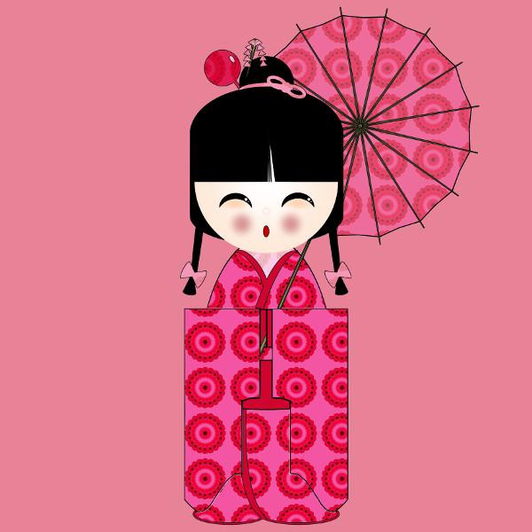 Kokeshi Flowers #12 [2012-2015] (Création et conception graphique de Didier Desmet) [Artiste Infirme Moteur Cérébral] [Infirmité Motrice Cérébrale] [IMC] [Paralysie Cérébrale] [Cerebral Palsy] [Handicap] [Kawaii]