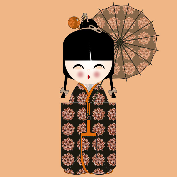 Kokeshi Flowers #3 [2012-2015] (Création et conception graphique de Didier Desmet) [Artiste Infirme Moteur Cérébral] [Infirmité Motrice Cérébrale] [IMC] [Paralysie Cérébrale] [Cerebral Palsy] [Handicap] [Kawaii]