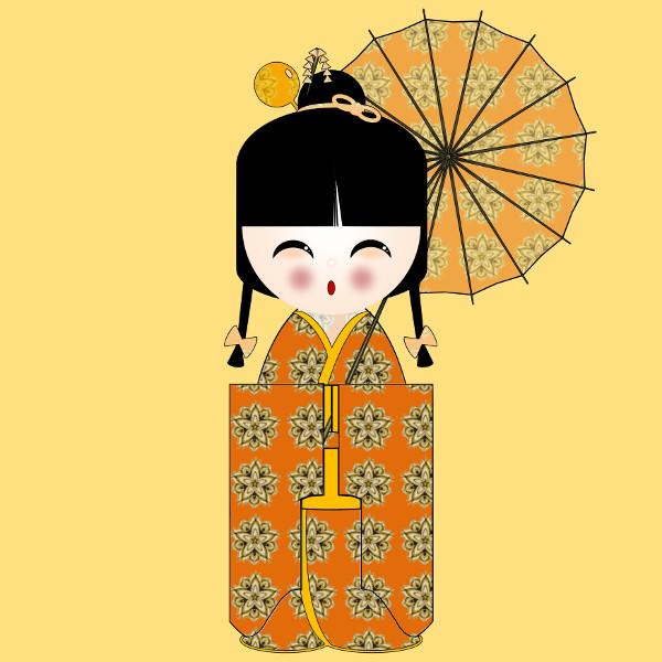 Kokeshi Flowers #4 [2012-2015] (Création et conception graphique de Didier Desmet) [Artiste Infirme Moteur Cérébral] [Infirmité Motrice Cérébrale] [IMC] [Paralysie Cérébrale] [Cerebral Palsy] [Handicap] [Kawaii]