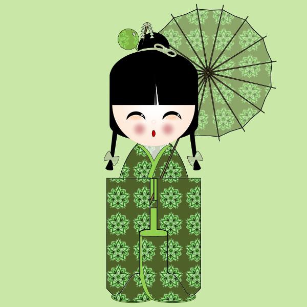 Kokeshi Flowers #5 [2012-2015] (Création et conception graphique de Didier Desmet) [Artiste Infirme Moteur Cérébral] [Infirmité Motrice Cérébrale] [IMC] [Paralysie Cérébrale] [Cerebral Palsy] [Handicap] [Kawaii]