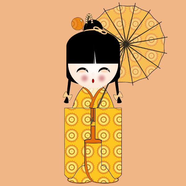Kokeshi Flowers #9 [2012-2015] (Création et conception graphique de Didier Desmet) [Artiste Infirme Moteur Cérébral] [Infirmité Motrice Cérébrale] [IMC] [Paralysie Cérébrale] [Cerebral Palsy] [Handicap] [Kawaii]