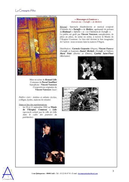 La Compagnie Altus Rendez-vous avec le public de 2001 à 2004 (page 3) [2004] (Affiche de Didier Desmet photo de inconnu Photos de inconnu Modèles V Farasse, C Carpenito, M Polet et D Michiels) [Artiste Infirme Moteur Cérébral] [Infirmité Motrice Cérébrale] [IMC] [Paralysie Cérébrale] [Cerebral Palsy] [Handicap]