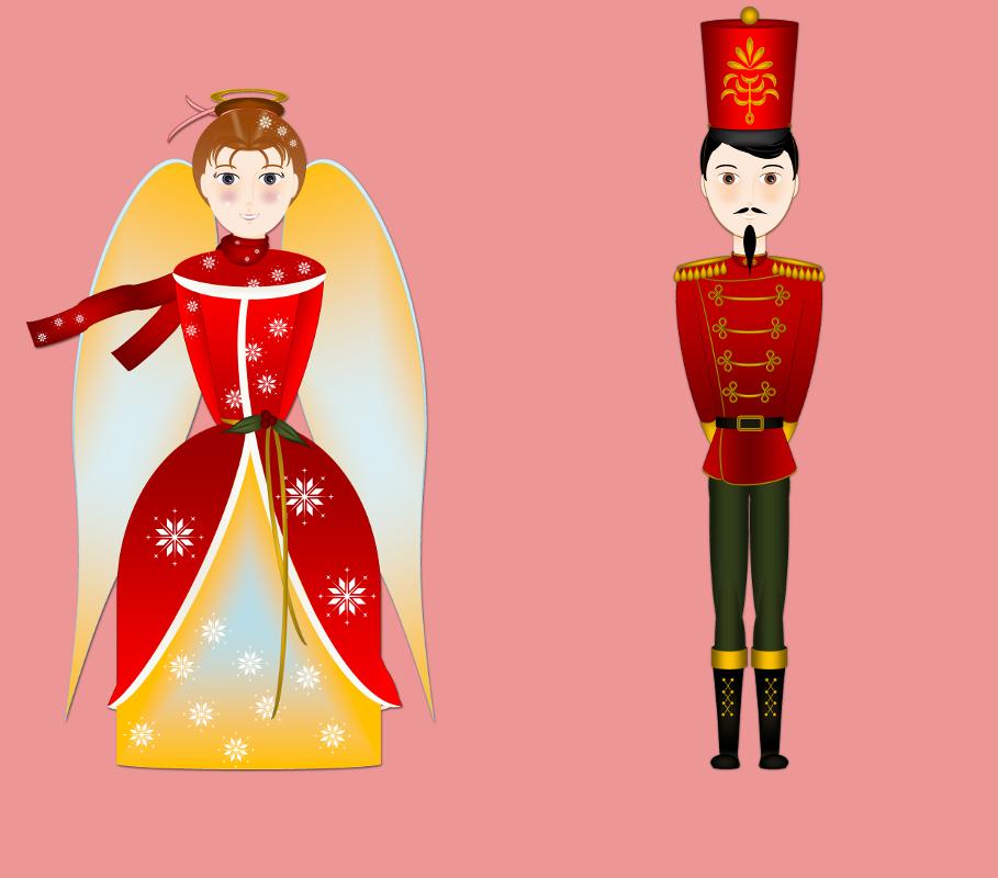 L`ange de Noël et le Casse-noisette (Nutcracker) [2015] (Création et conception graphique de Didier Desmet) [Artiste Infirme Moteur Cérébral] [Infirmité Motrice Cérébrale] [IMC] [Paralysie Cérébrale] [Cerebral Palsy] [Handicap] [Kawaii]