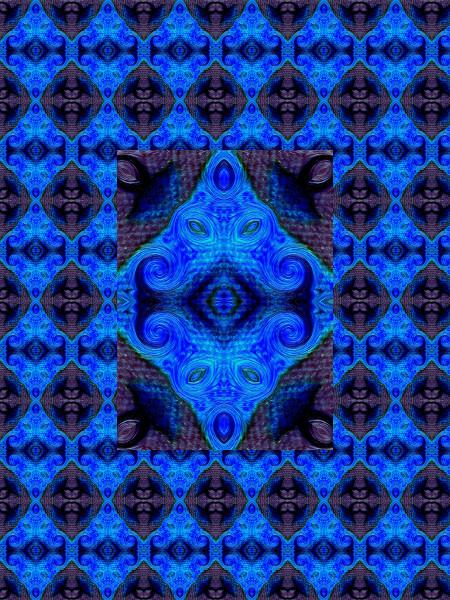 Le jardin du palais bleu [2012] (Création et conception graphique de Didier Desmet) [Motif] [Pattern] [Motifs] [Patterns] [Artiste Infirme Moteur Cérébral] [Infirmité Motrice Cérébrale] [IMC] [Paralysie Cérébrale] [Cerebral Palsy] [Handicap]