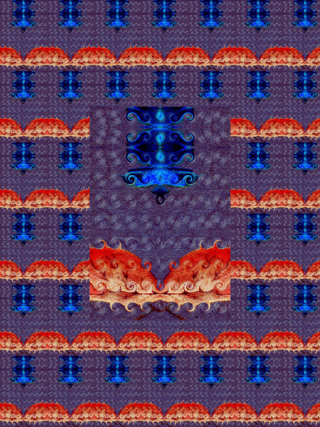 Le lustre de saphir [2012] (Création et conception graphique de Didier Desmet) [Motif] [Pattern] [Motifs] [Patterns] [Artiste Infirme Moteur Cérébral] [Infirmité Motrice Cérébrale] [IMC] [Paralysie Cérébrale] [Cerebral Palsy] [Handicap]