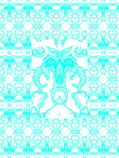 L'envol d'une âme [2004 - 2012] (Création et conception graphique de Didier Desmet) [Motif] [Pattern] [Motifs] [Patterns] [Artiste Infirme Moteur Cérébral] [Infirmité Motrice Cérébrale] [IMC] [Paralysie Cérébrale] [Cerebral Palsy] [Handicap]