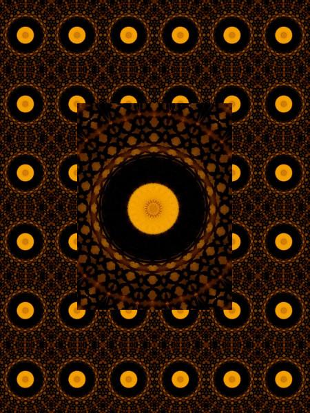 L`univers au mille soleils [2012] (Création et conception graphique de Didier Desmet) [Motif] [Pattern] [Motifs] [Patterns] [Artiste Infirme Moteur Cérébral] [Infirmité Motrice Cérébrale] [IMC] [Paralysie Cérébrale] [Cerebral Palsy] [Handicap]