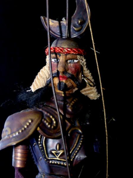 Marionnette sicilienne Opera dei Pupi - Saraceno #1 [2020] (Photo de Didier Desmet) Lavarazione a mano [Artiste Infirme Moteur Cérébral] [Infirmité Motrice Cérébrale] [IMC] [Paralysie Cérébrale] [Cerebral Palsy] [Handicap] [Kawaii]