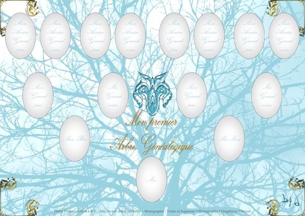 Mon premier arbre généalogique (Création et conception graphique de Didier Desmet) Papercraft gratuit [Contruction en papier] DIY [Artiste Infirme Moteur Cérébral] [Infirmité Motrice Cérébrale] [IMC] [Paralysie Cérébrale] [Cerebral Palsy] [Handicap] [Kawaii]