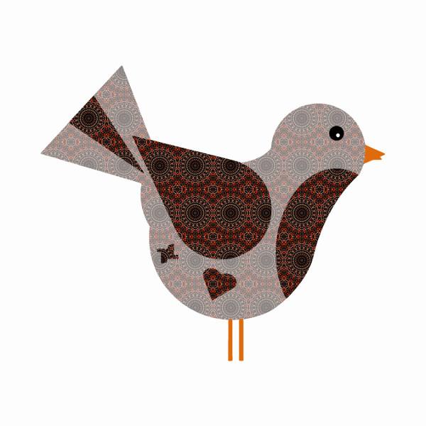 Oiseau #11 [2014-2015] (Création et conception graphique de Didier Desmet) [Artiste Infirme Moteur Cérébral] [Infirmité Motrice Cérébrale] [IMC] [Paralysie Cérébrale] [Cerebral Palsy] [Handicap] [Kawaii]