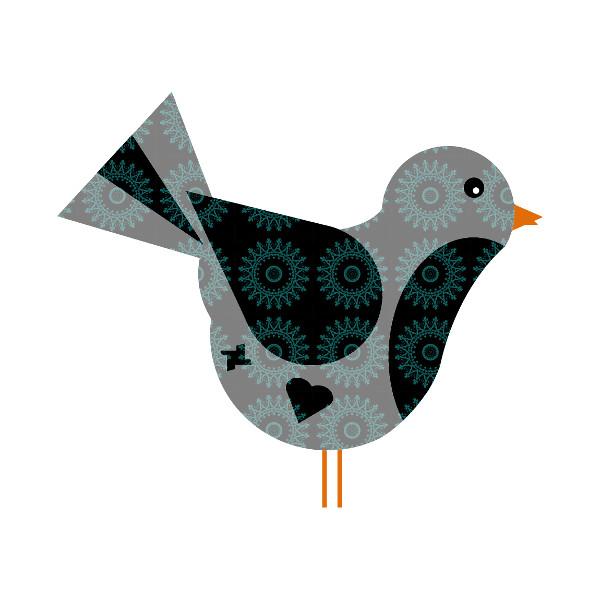 Oiseau #24 [2014-2015] (Création et conception graphique de Didier Desmet) [Artiste Infirme Moteur Cérébral] [Infirmité Motrice Cérébrale] [IMC] [Paralysie Cérébrale] [Cerebral Palsy] [Handicap] [Kawaii]