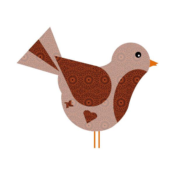 Oiseau #25 [2014-2015] (Création et conception graphique de Didier Desmet) [Artiste Infirme Moteur Cérébral] [Infirmité Motrice Cérébrale] [IMC] [Paralysie Cérébrale] [Cerebral Palsy] [Handicap] [Kawaii]