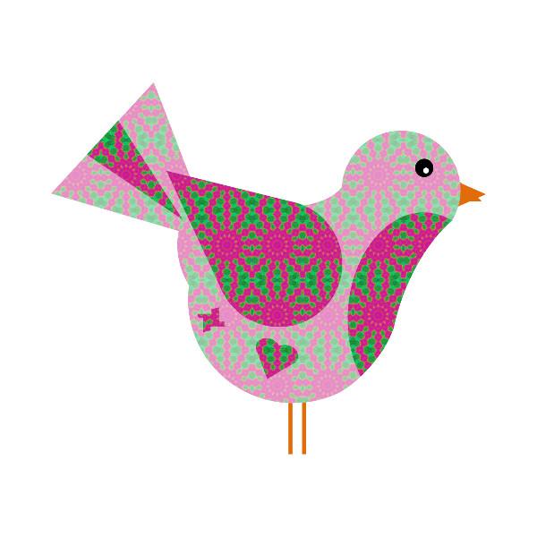 Oiseau #26 [2014-2015] (Création et conception graphique de Didier Desmet) [Artiste Infirme Moteur Cérébral] [Infirmité Motrice Cérébrale] [IMC] [Paralysie Cérébrale] [Cerebral Palsy] [Handicap] [Kawaii]