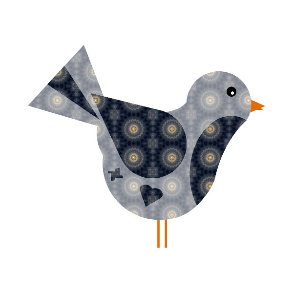 Oiseau #37 [2014-2015] (Création et conception graphique de Didier Desmet) [Artiste Infirme Moteur Cérébral] [Infirmité Motrice Cérébrale] [IMC] [Paralysie Cérébrale] [Cerebral Palsy] [Handicap] [Kawaii]