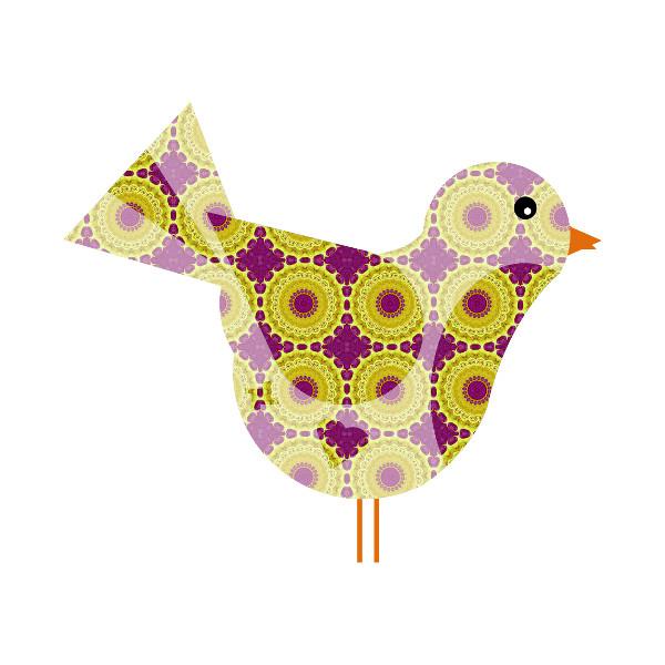 Oiseau #38 [2014-2015] (Création et conception graphique de Didier Desmet) [Artiste Infirme Moteur Cérébral] [Infirmité Motrice Cérébrale] [IMC] [Paralysie Cérébrale] [Cerebral Palsy] [Handicap] [Kawaii]