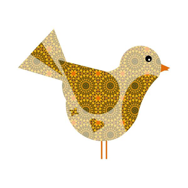 Oiseau #39 [2014-2015] (Création et conception graphique de Didier Desmet) [Artiste Infirme Moteur Cérébral] [Infirmité Motrice Cérébrale] [IMC] [Paralysie Cérébrale] [Cerebral Palsy] [Handicap] [Kawaii]